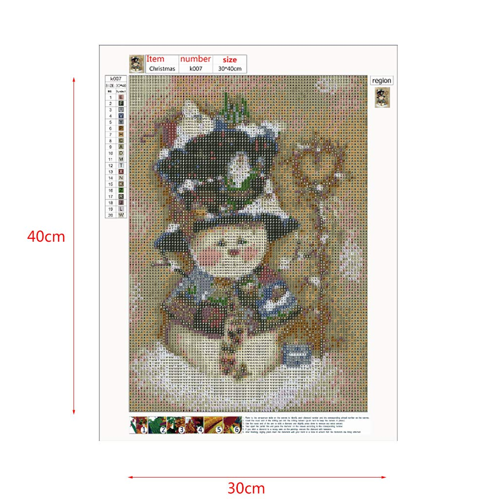 Fogun Schneemann 5D DIY Full Diamond Painting Stickerei Cross Crafts Stitch Home Decor