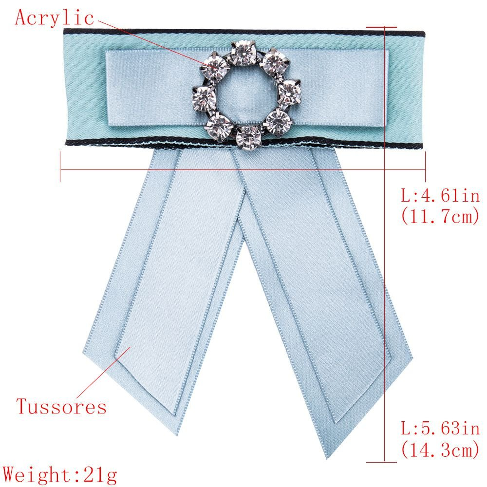 Crystal Bow Knot Bell Choker Necklace Collar Brooch Shirt Tie for Wedding Party