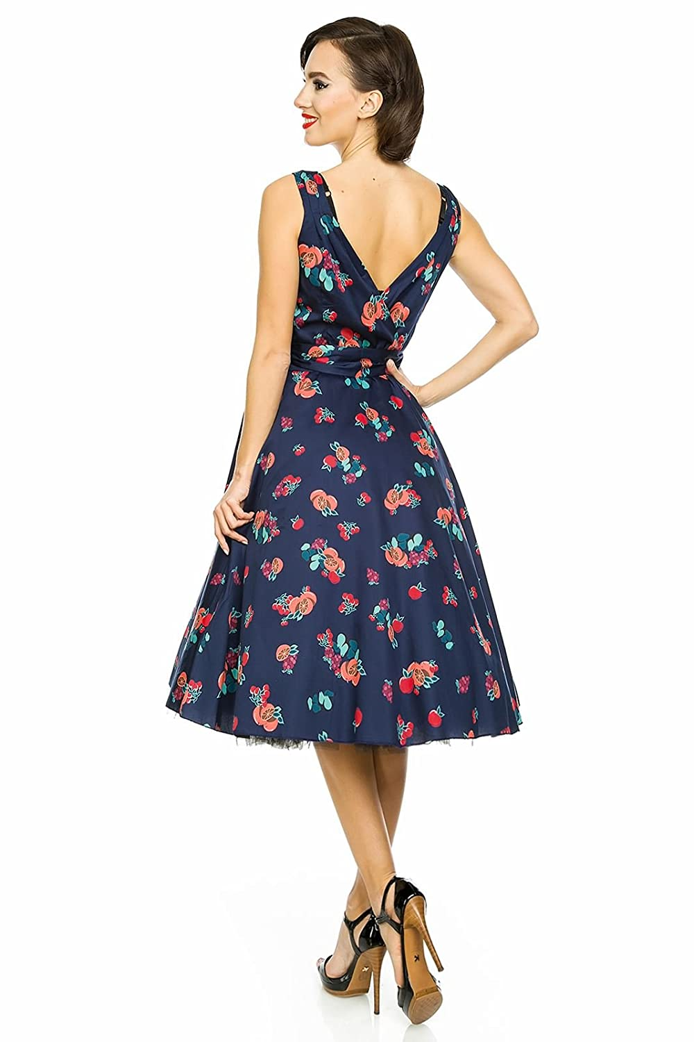 Looking Glam Ladies 1950s Mid Tie Retro Vintage Pin Up Swing Party Dress: Amazon.co.uk: Clothing