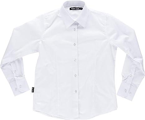 S-ROX WORKTEAM - Camisa Entallada para señora de Cuello clásico y Cierre Central de Botones. Manga Larga con puño de botón. Espalda con canesú. Co Mujer: Amazon.es: Ropa y accesorios