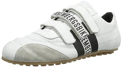 Bikkembergs 640980 - Zapatillas de cuero para hombre, color blanco, talla 41: Amazon.es: Zapatos y complementos