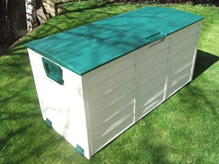 Vinsani Waterproof Garden Patio House Garage Outdoor Plastic Storage  Utility Shed Chest Box With Wheels (