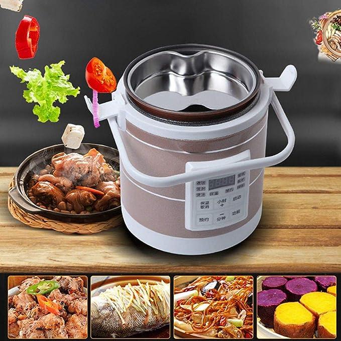 Amazon.com: Mini cocina de arroz de 1,6 L programable con ...
