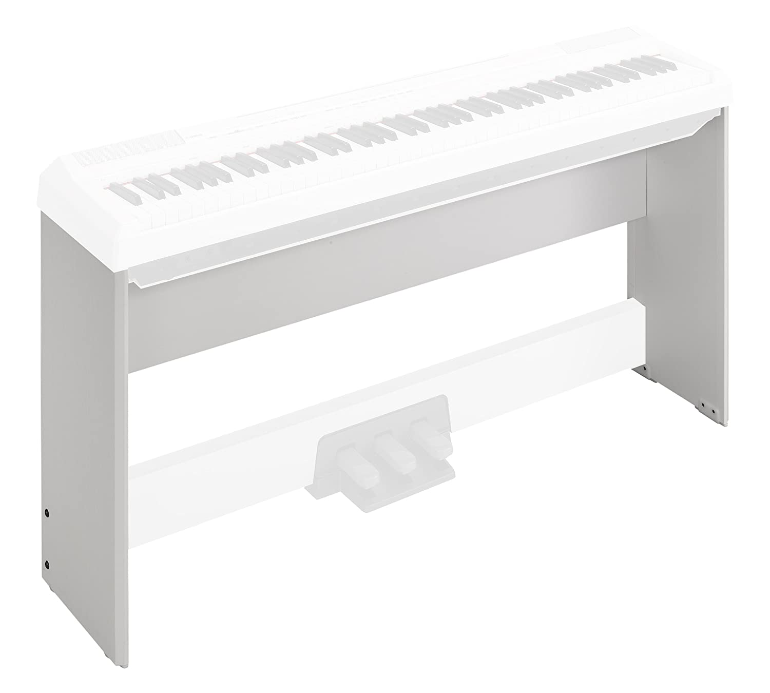 Yamaha L85WH Wood Keyboard Stand for P105WH; White
