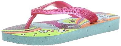 adee5755d Havaianas Girls  Flores Flip Flops Ice Blue