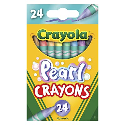 Crayola Pearl Crayons, Pearlescent Colors, 24Count: Toys & Games