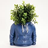 Bits and Pieces - Fun Hoodie Planter Urn Sculpture - Durable Resin Planter Sculpture - Indoors or Outdoors Planter