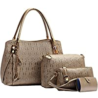 LACIRA Women's Handbag, Sling Bag, Purse and Card Holder (Combo of 4)