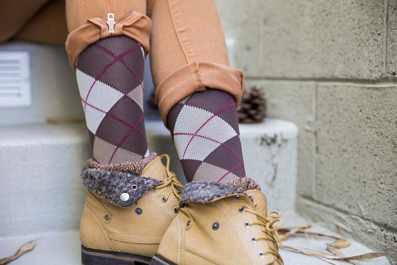 Argyle Pattern Rejuva 20-30 mmHg Graduated Compression Socks Men//Women