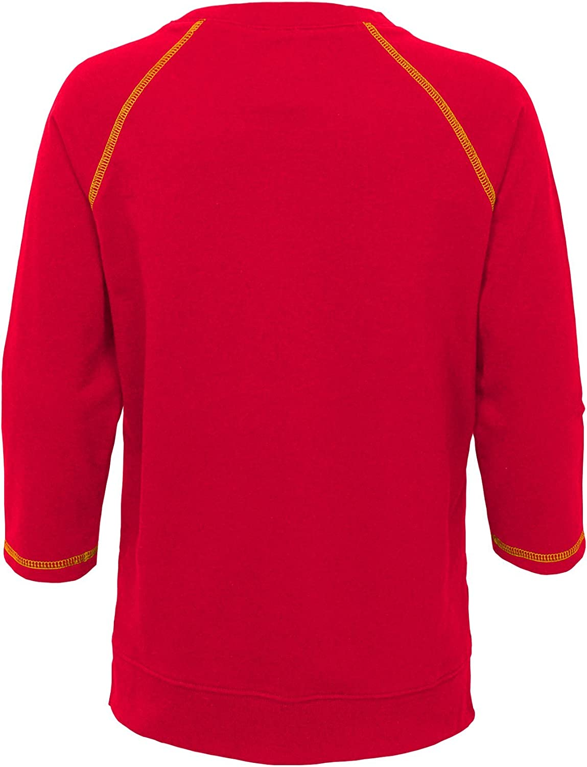 Outerstuff NFL San Francisco 49ers Youth Boys Team Captain Long Sleeve Slub Tee Crimson Youth Small 7-8