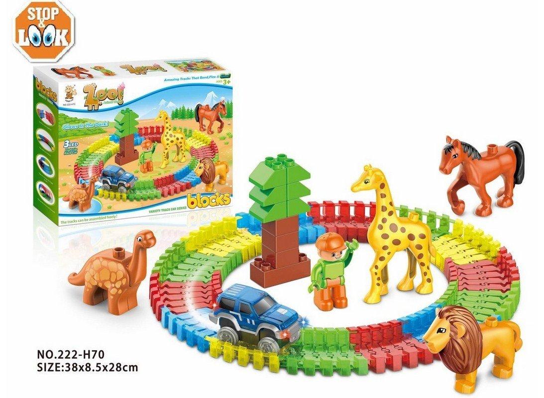 Stop & Look 000658300 - Juego de Bloques Flexibles de zoológico ...