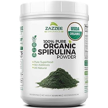 Zazzee USDA Organic Spirulina Powder