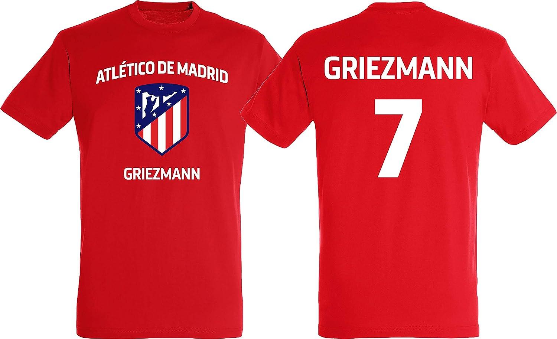 ATLETICO MADRID Atlético Madid - Camiseta de Antoine Griezmann para Hombre, colección Oficial, Hombre, Rojo, Large: Amazon.es: Deportes y aire libre