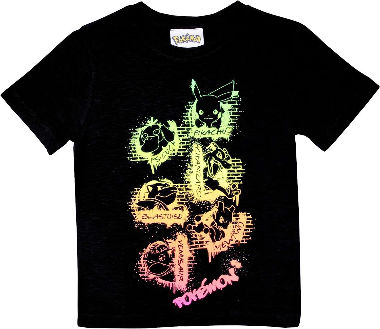 Pokemon Neon Graffiti Camiseta de los Muchachos | mercancía Oficial | Edades 4-15, Regalos de Pokemon, Niños Tapa de la Manera, Ropa para niños, Idea del Regalo de cumpleaños de los niños: