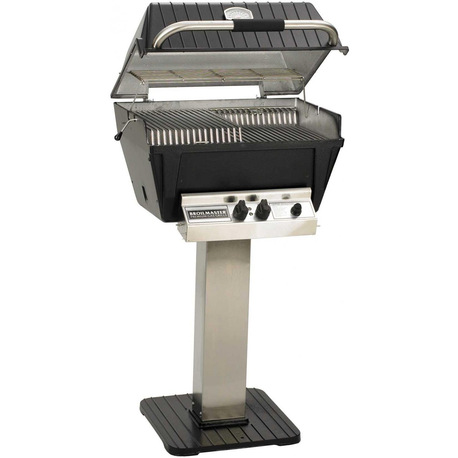 Amazon.com: Broilmaster P4 Xfn Premium Natural Gas Grill On Stainless Steel  Patio Post: Garden U0026 Outdoor