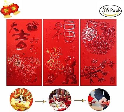amazon com chinese red envelopes red money envelopes 5 design pack