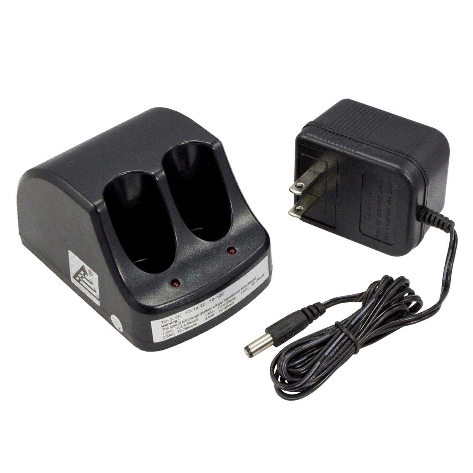 Protac New Dual Port Charger for Black & Decker VP100 VP110 22-4040 22-4035 VP130 VP100C VP105C VP110C 152370-03 Power Tools (TO-36-C) VersaPak 3.6V Battery