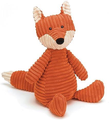 """Jellycat Cordy Roy Elephant Plush Dark Blue 15/"""" Soft Toy Stuffed Animal"""