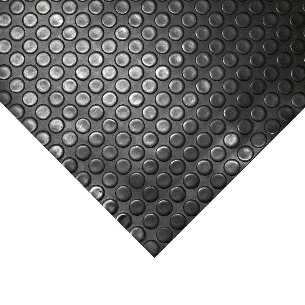 Disques rehauss/Ès Rouleau de 1,5/†mm d/Èpaisseur et 1/†m de large Rev/Ítement de sol en PVC gris et noir