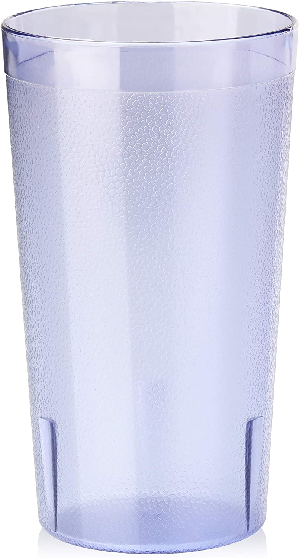 New Star Foodservice 46298 Tumbler Beverage Cup, Stackable Cups, Break-Resistant Commercial Plastic, 12 oz, Blue, Set of 72