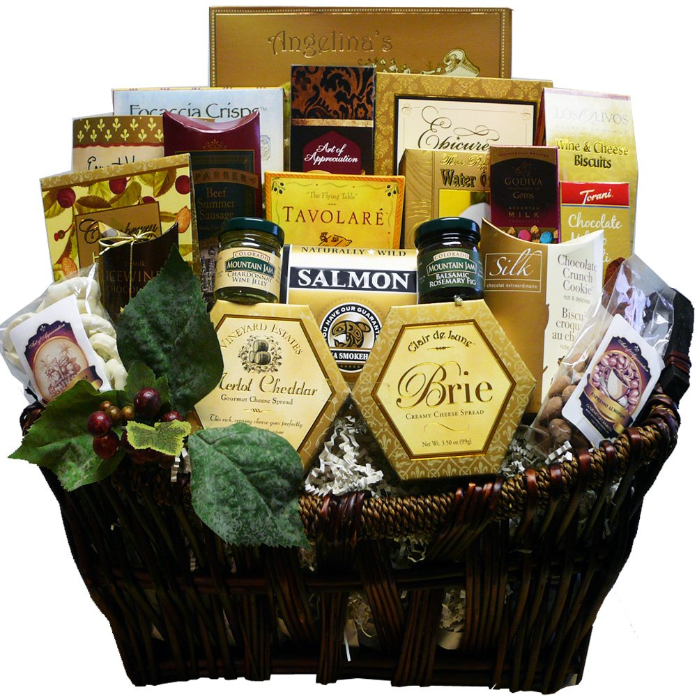 Pick of the Season Gourmet Food Gift Basket with Smoked Salmon (Chocolate Option) by ArtofAppreciation.com