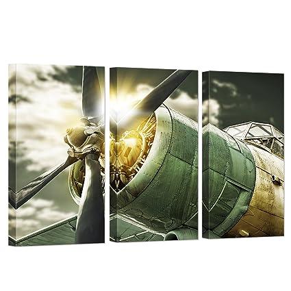 Amazon.com: VVOVV Wall Decor - 3 Panel Wall Art Painting Turbine ...