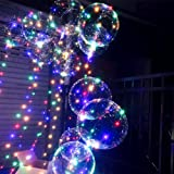 LED Light Balloon Bling Wave Balloon Colorful Night Market Shopping Mall Square Street Selling Birthday Party Decoration Wedding Layout