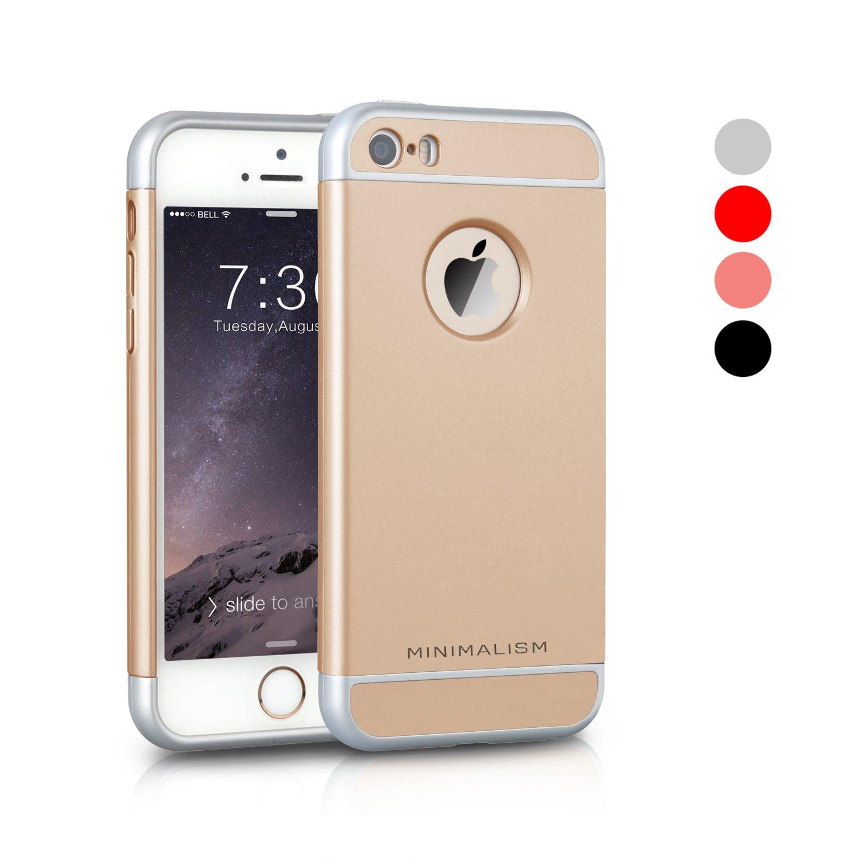 Iphone Se Caseminimalism 3 In 1 Ultra Thin And Slim Hard Case Coated Non Slip.. 16
