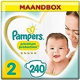 Pampers Maat 2 Premium Protection Luiers, 240 Stuks, MAANDBOX, onze Nummer 1 Luier voor Zachtheid en Bescherming van de…