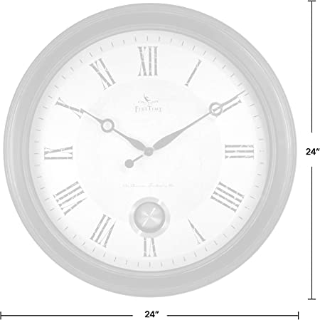 Amazon Com Firstime Co Adair Wall Clock 24 Oil Rubbed Bronze Furniture Decor