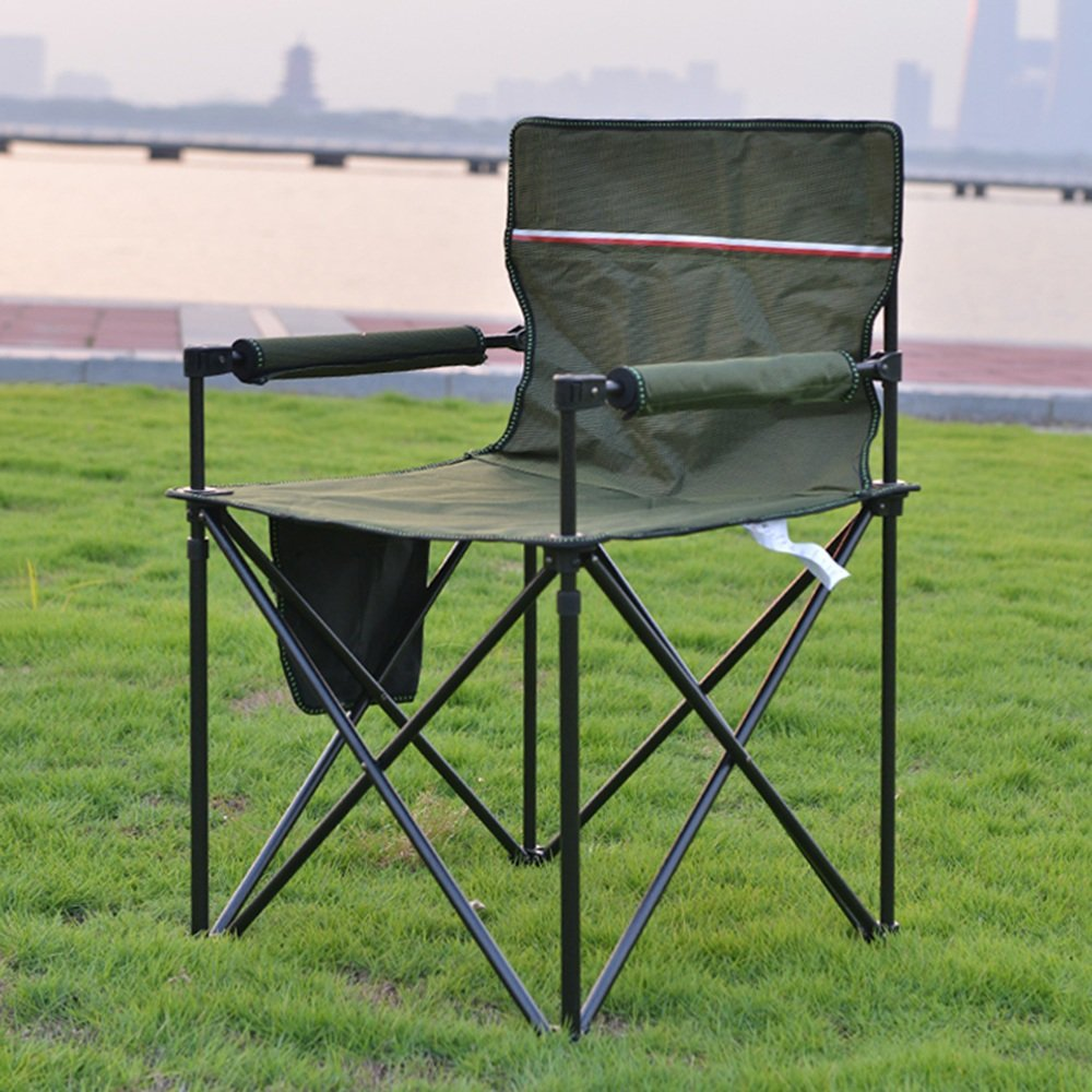 KFXL yizi Sedia Pieghevole Sedia Pieghevole per Barbecue Portatile Tavolo da Spiaggia per Il Tempo Libero Sedia da Pesca 2 Colorei Opzionale 83  48  54cm (colore   A)