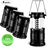 Argus Le Collapsible LED Camping Lantern Flashlights, Portable Camping Gear Lights for Hiking, Emergencies, Hurricanes, Outages, Battery Powered