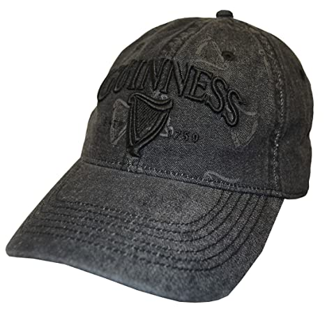 b33cbb3628e32 Image Unavailable. Image not available for. Color  Guinness Black  Distressed 3D Harp Baseball Cap