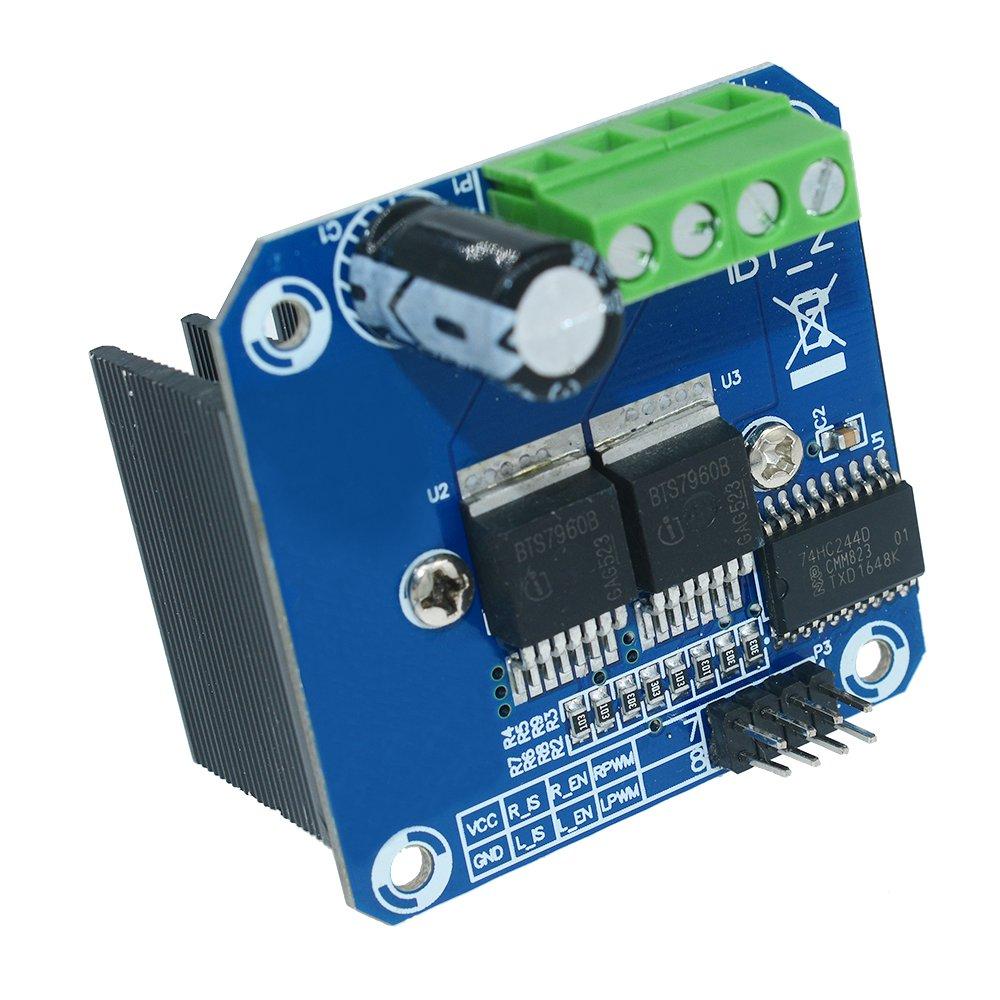 Aideepen Double BTS7960B DC 43A Stepper Motor Driver Module H-Bridge PWM Driving Board for Arduino Smart Car