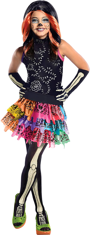 Monster High - Disfraz de Skelita Calaveras para niña, infantil 5-7 años (Rubie's 886700-M)