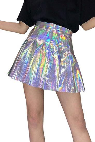 Zilcremo Minifalda Sexi para Mujer Falda de Patinadora de Ballet ...