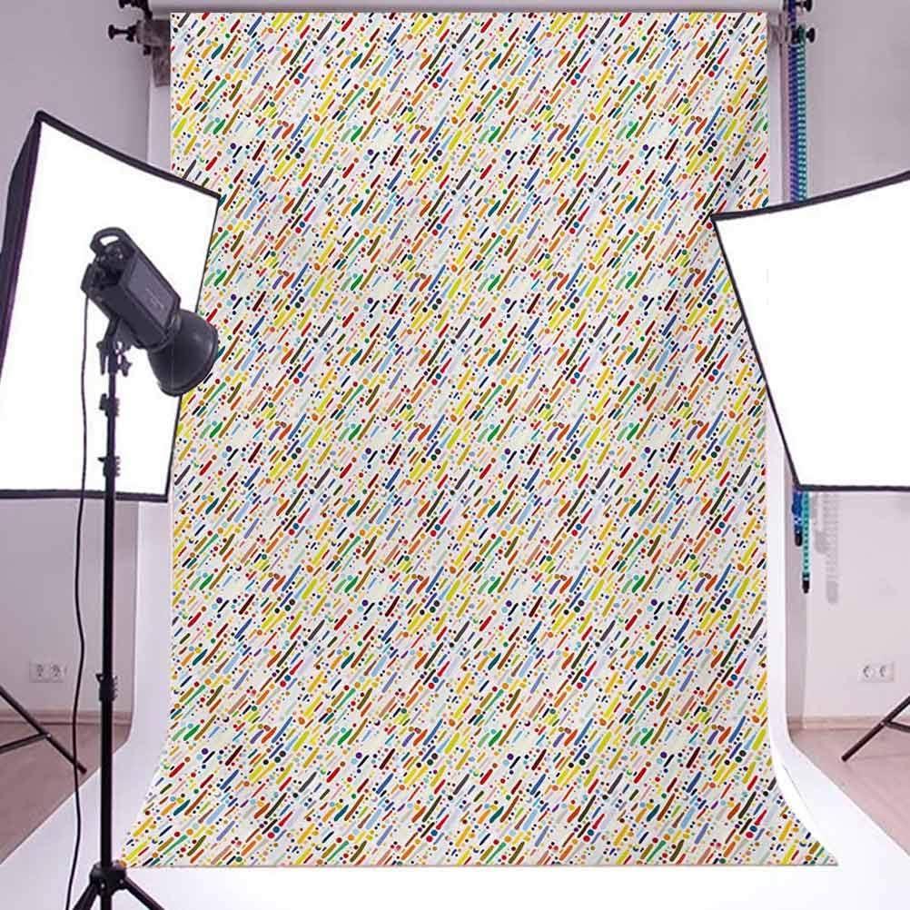10x15 FT Photo Backdrops,Colorful Diagonal Stripes Traditional Polka Dots Surreal Grunge Theme Background for Kid Baby Boy Girl Artistic Portrait Photo Shoot Studio Props Video Drape Vinyl