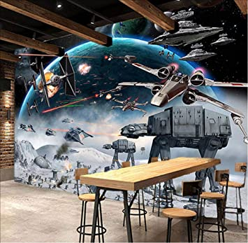 Txyang 3D Cartoon Shock Papel tapiz de Star Wars Papel tapiz de ...