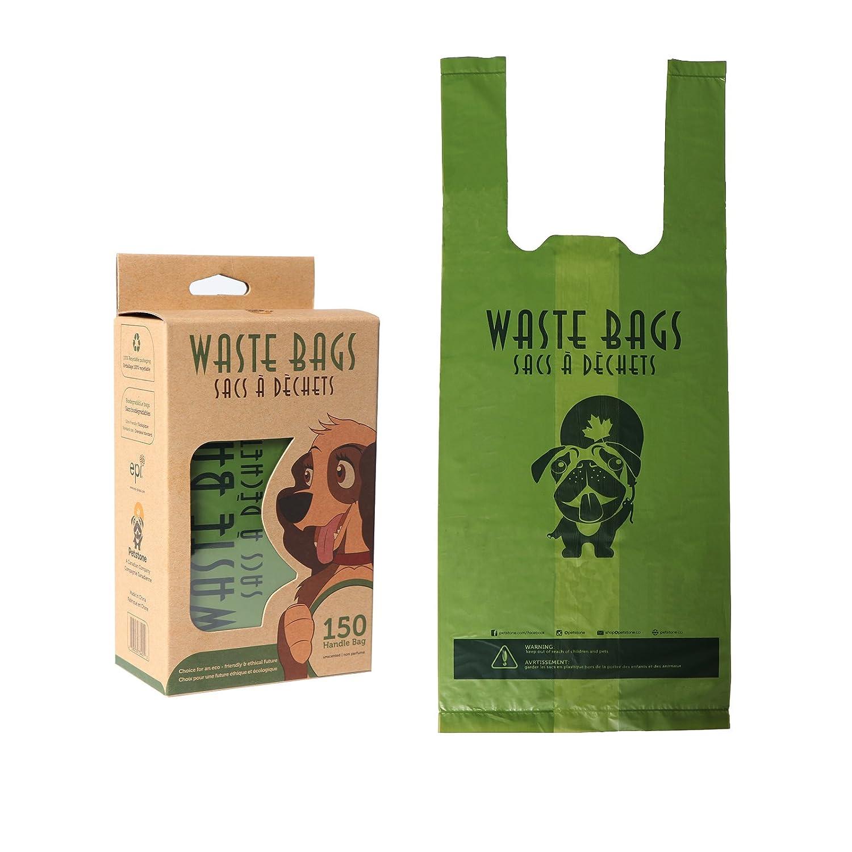 Poop Bags, Dog Waste Bags with Easy-Tie Handles By Petstone