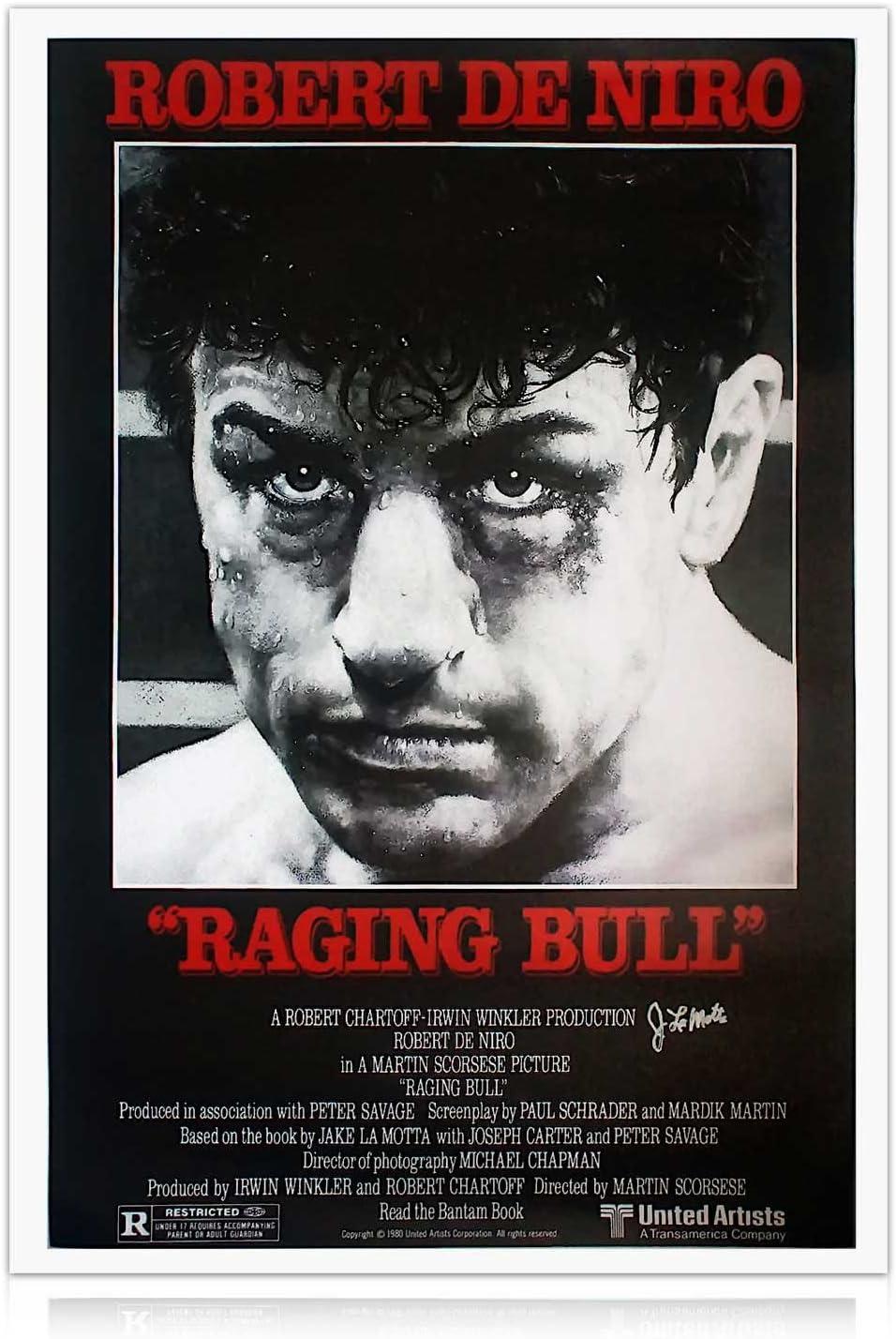 Jake LaMotta Firmado Raging Bull cartel de la película: Amazon.es: Deportes y aire libre