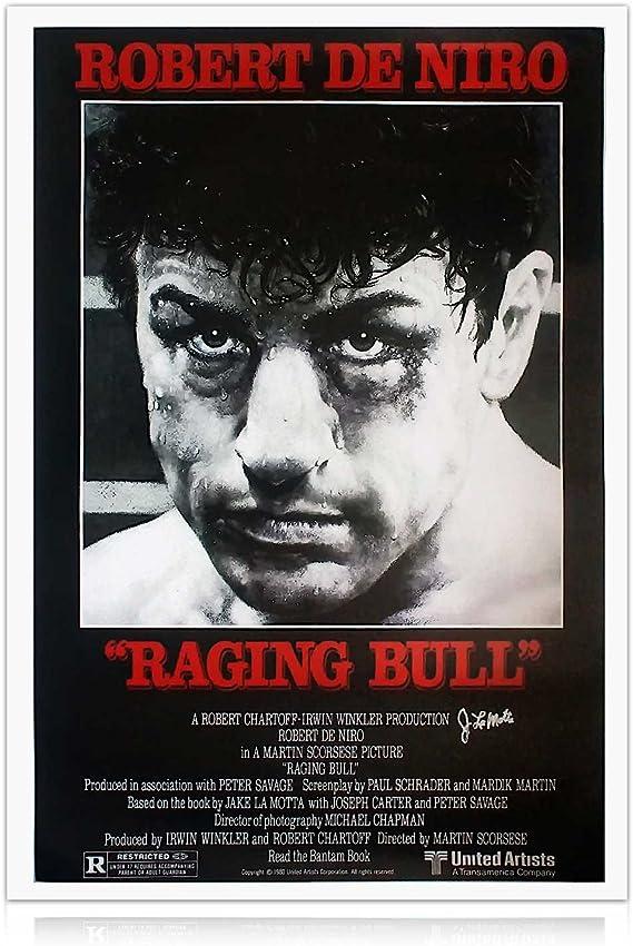 Jake LaMotta Firmado Raging Bull cartel de la película: Amazon.es ...