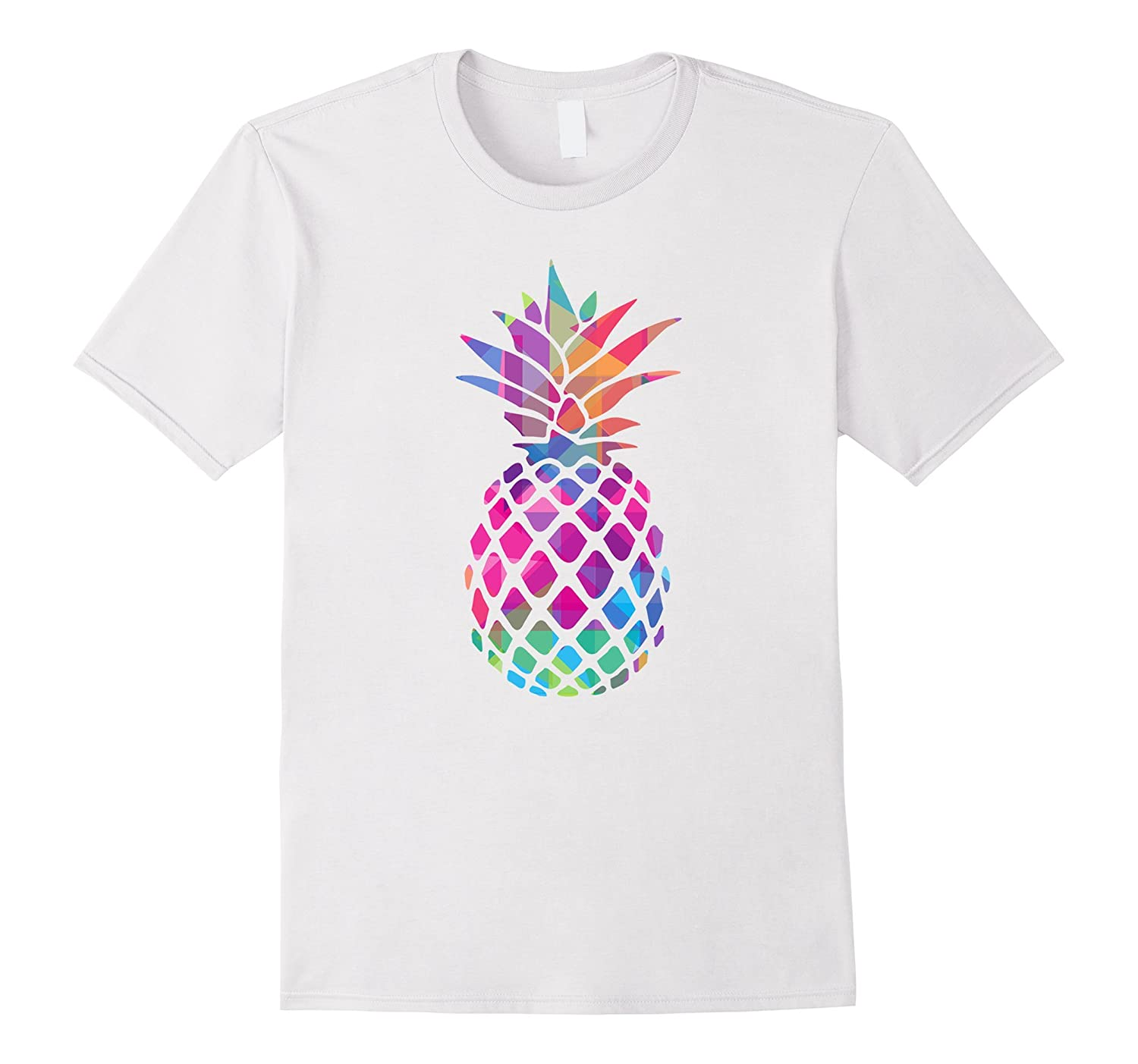 Tropical Design T Shirts | Retro Pineapple Ananas Palm Tropical Design Beach T Shirt Fl