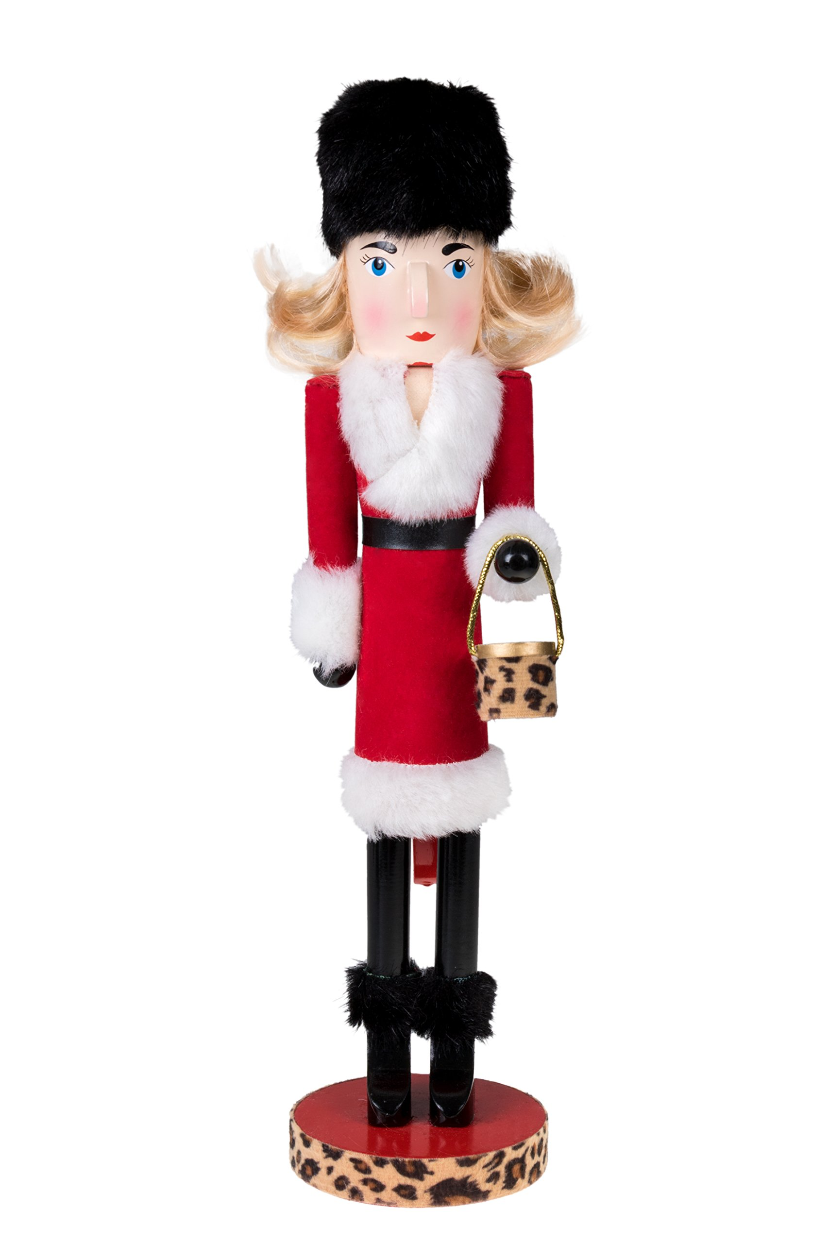 """Lady in Red Nutcracker by Clever Creations 
