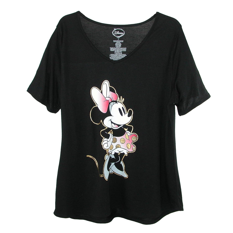 cf5dba4d41af Amazon.com: Disney Women's Plus Size Minnie Mouse V Neck T Shirt: Clothing