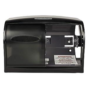 Scott 09604 Essential Coreless SRB Tissue Dispenser, 11 1/10 x 6 x 7 5/8, Smoke/Gray