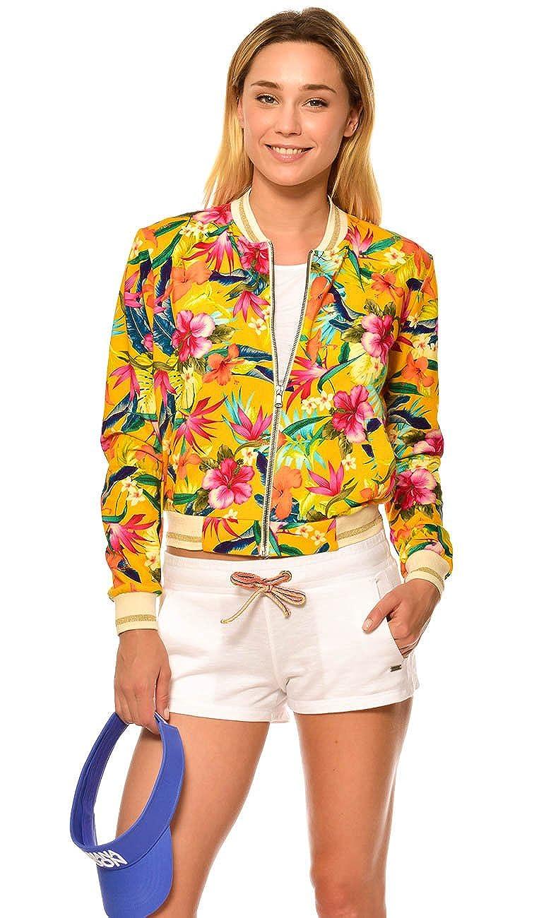 6562eb4f61 Women's Jacket Women's Yellow Jacket Women's Bomber Jacket DOLPHIN  PENSACOLA at Amazon Women's Clothing store: