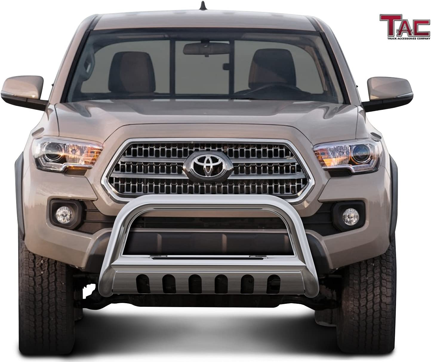 Remove Skid Plate- If Equipped BETTER AUTOMOTIVE 3 Bull BAR Fit 2016-2020 Toyota Tacoma Black Bumper Brush Guard