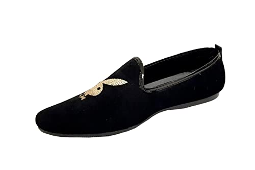 e62a5fadc74 Men s Velvet Slip-On Loafer (Black   Silver)  Buy Online at Low ...