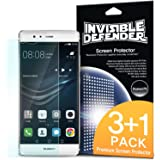 Huawei P9 Screen Protector - Invisible Defender [3+1Pack/MAX HD CLEARNESS] Perfect Touch Precision High Definition (HD) Clear Film (4-Pack) for Huawei P9