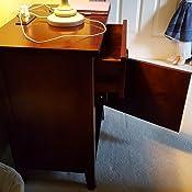 Amazon.com: KD Muebles Mesa Auxiliar Con Salida 2-plug ...